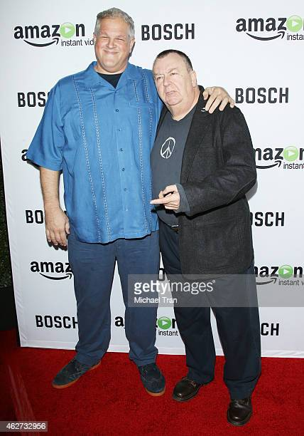 Troy Evans and Abraham Benrubi arrive at the Los Angeles premiere of 'Bosch' held at Arclight Hollywood on February 3 2015 in Hollywood California