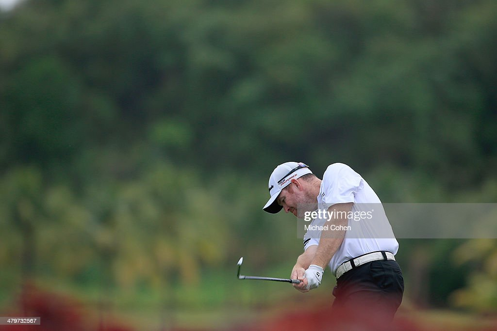Troy Matteson hits a drive during the second round of the Puerto Rico Open presented by seepuertoricocom held at Trump International Golf Club on...
