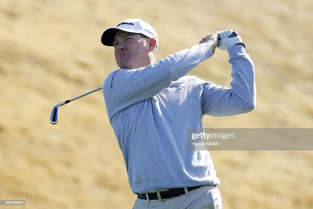 Troy Matteson hits his tee shot on the seventh hole during the first round of the Waste Management Phoenix Open at TPC Scottsdale on January 31, 2013 in Scottsdale, Arizona.
