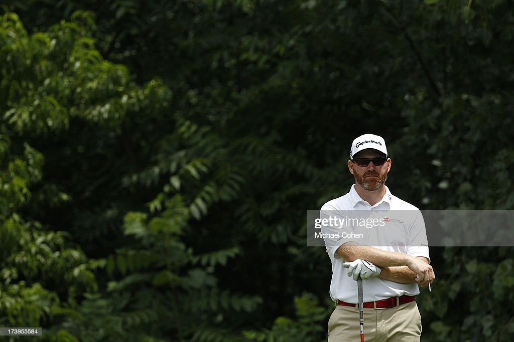 Troy Matteson looks on during the third round of the John Deere Classic held at TPC Deere Run on July 13 2013 in Silvis Illinois
