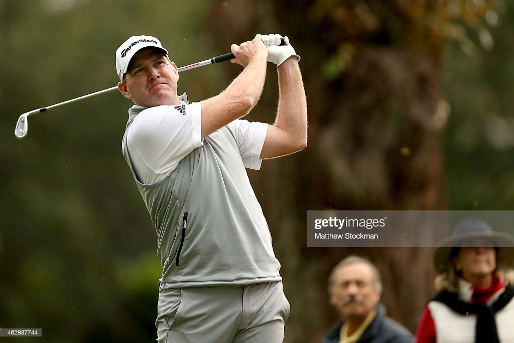 Troy Matteson of the United States hits off the 7th tee during the third round of the Colombia Championship presented by Claro at the Country Club de...