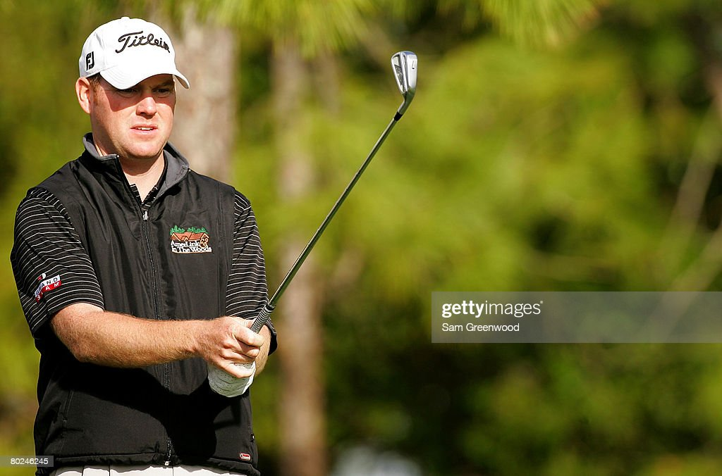Troy Matteson plays the 17th hole during the continuation of the second round of the PODS Championship at Innisbrook Resort and Golf Club on March 8, 2008 in Palm Harbor, Florida.