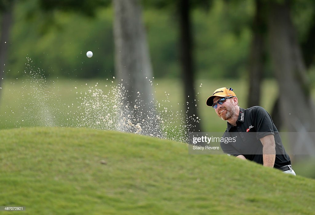 Troy Matteson takes his shot on the 2nd during the Final Round of the Zurich Classic of New Orleans at TPC Louisiana on April 27 2014 in Avondale...