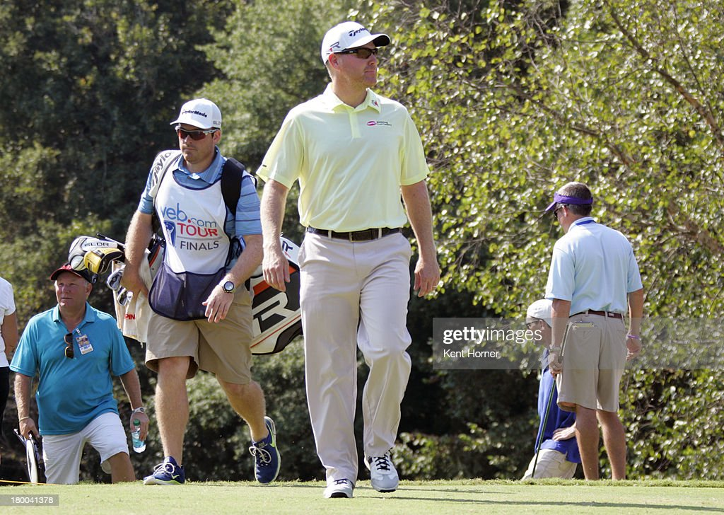 Troy Matteson walks up to the 2nd tee during the final round of the Chiquita Classic in the Webcom tour finals at River Run Country Club on September...