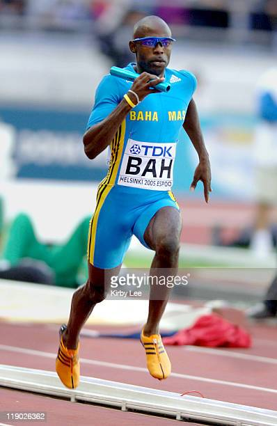 Troy McIntosh runs third leg of The Bahamas' heatwinning 1600meter relay that timed 25973 in the IAAF World Championships in Athletics at Olympic...