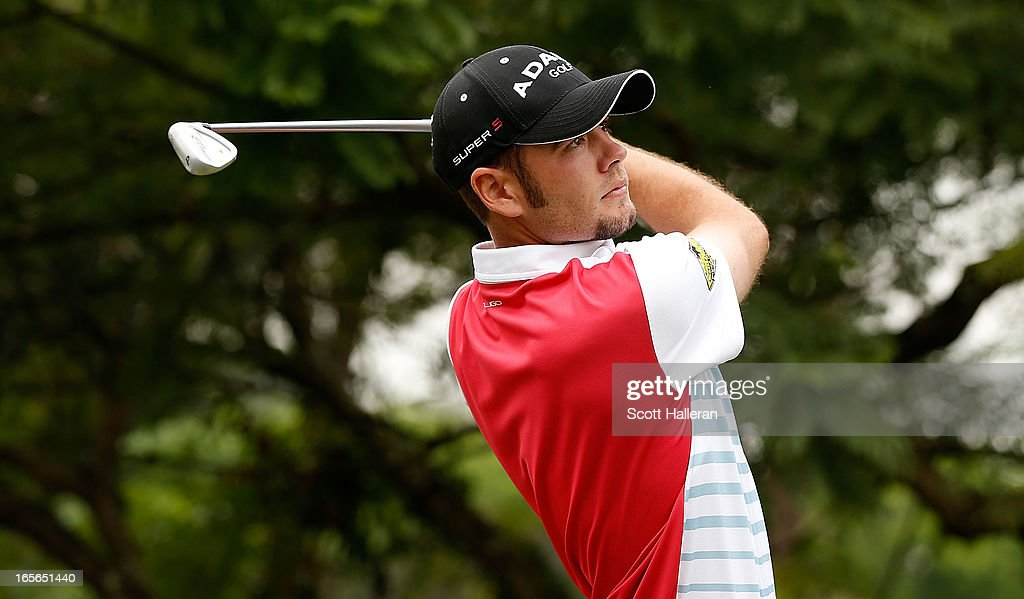 Troy Merritt of the USA hits a shot during the pro-am at the Sao Paulo Golf Club prior to the start of the Brasil Classic Presented by HSBC on April 3, 2013 in Sao Paulo, Brazil.