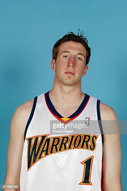 Troy Murphy of the Golden State Warriors poses for a portrait during NBA Media Day on March 24 2004 in Oakland California NOTE TO USER User expressly...