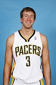 Troy Murphy of the Indiana Pacers poses for a portrait during NBA Media Day at Conseco Fieldhouse on October 1 2007 in Indianapolis Indiana NOTE TO...