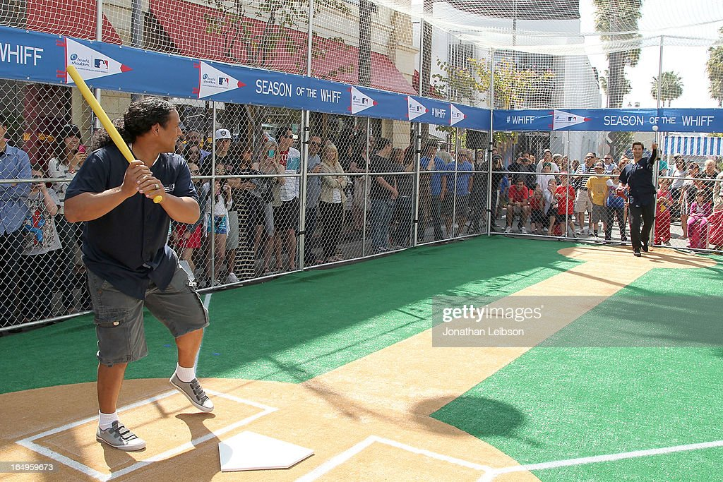 Troy Polamalu of the Pittsburgh Steelers attends the Head & Shoulders 'Whiff-A-Thon' at The Grove on March 29, 2013 in Los Angeles, California.