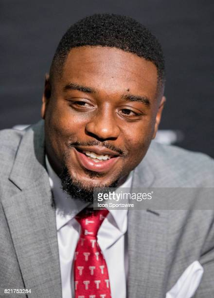 Troy running back Jordan Chunn interacts with media during the Sun Belt Media Day on July 24 2017 at the MercedesBenz Superdome on