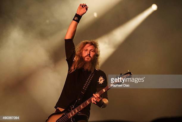 Troy Sanders from Mastodon performs at 2015 Rock in Rio on September 25 2015 in Rio de Janeiro Brazil