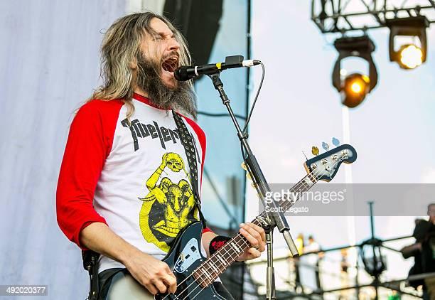 Troy Sanders of Mastodon performs during 2014 Rock On The Range at Columbus Crew Stadium on May 18 2014 in Columbus Ohio