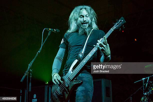 Troy Sanders of Mastodon performs during the 2014 Bonnaroo Music Arts Festival on June 13 2014 in Manchester Tennessee