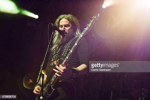 Troy Sanders of Mastodon performs onstage at the Ulster Hall on June 28 2015 in Belfast United Kingdom