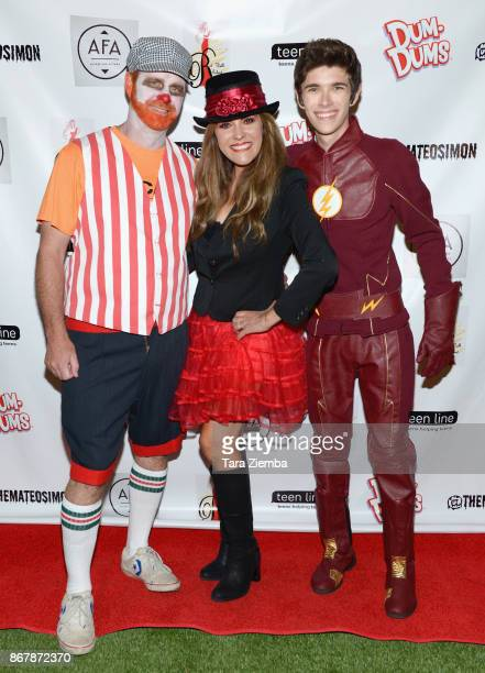 Troy Simon Denise Simon and Maeto Simon attend Mateo Simon's Halloween Charity Event on October 28 2017 in Burbank California