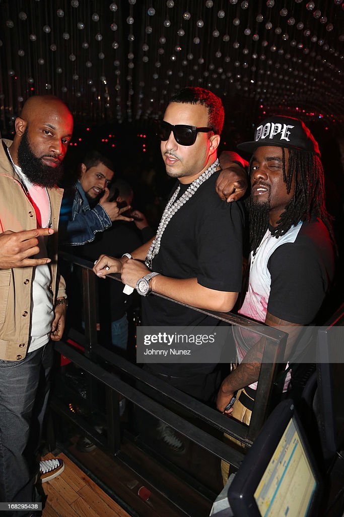 Troy 'Smack' Mitchell, <a gi-track='captionPersonalityLinkClicked' href=/galleries/search?phrase=French+Montana&family=editorial&specificpeople=7131467 ng-click='$event.stopPropagation()'>French Montana</a>, and <a gi-track='captionPersonalityLinkClicked' href=/galleries/search?phrase=Wale+-+Rapper&family=editorial&specificpeople=8770277 ng-click='$event.stopPropagation()'>Wale</a> attend Talib Kweli's Album Release Party at Greenhouse on May 7, 2013, in New York City.