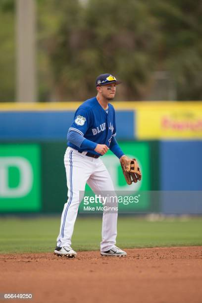 Troy Tulowitzki of the Toronto Blue Jays during the Spring Training game against the Boston Red Sox at Florida Auto Exchange Stadium on March 13 2017...