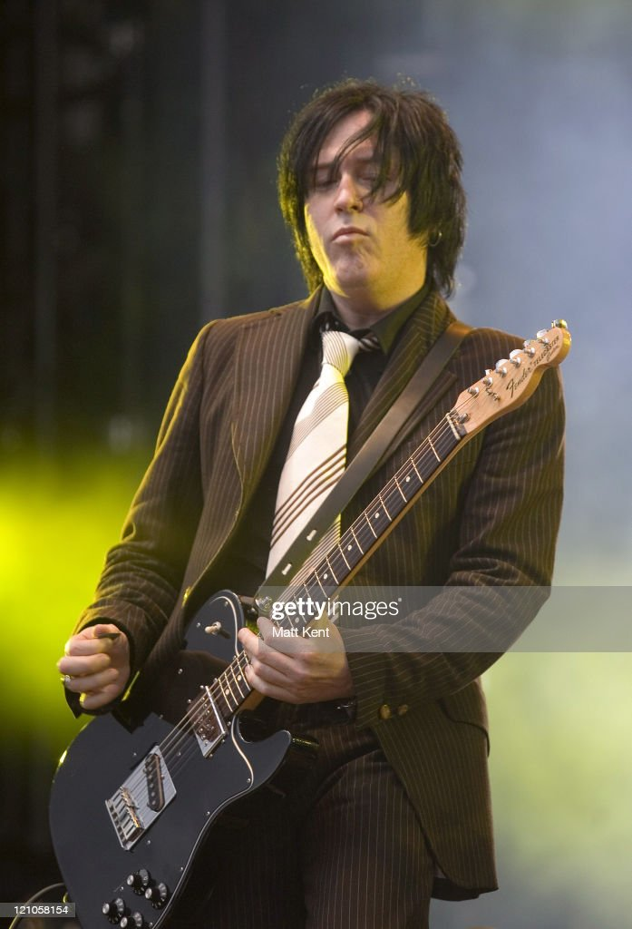 Troy Van Leeuwen of Queens of the Stone Age during O² Wireless Festival 2007 - Hyde Park - Day 1 at Hyde Park in London, Great Britain.