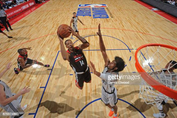 Troy Williams of the Houston Rockets goes for a lay up during the game against the Phoenix Suns on July 10 2017 at the Thomas Mack Center in Las...