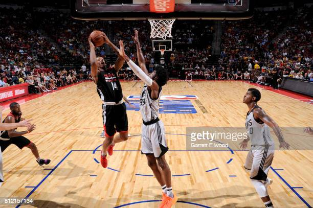 Troy Williams of the Houston Rockets goes to the basket against the Phoenix Suns on July 10 2017 at the Thomas Mack Center in Las Vegas Nevada NOTE...