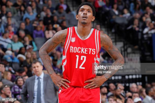 Troy Williams of the Houston Rockets looks on during the game against the Sacramento Kings on April 9 2017 at Golden 1 Center in Sacramento...