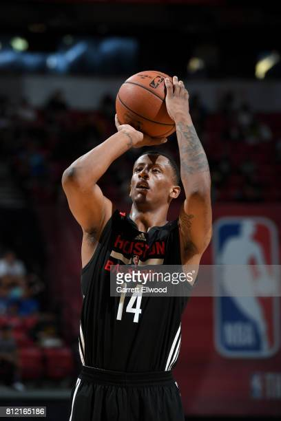 Troy Williams of the Houston Rockets shoots the ball against the Phoenix Suns on July 10 2017 at the Thomas Mack Center in Las Vegas Nevada NOTE TO...