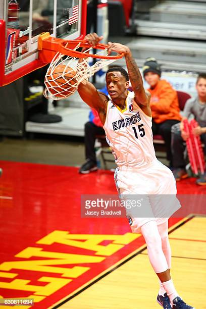 Troy Williams of the Iowa Energy dunks against the Rio Grande Valley Vipers in an NBA DLeague game on December 27 2016 at the Wells Fargo Arena in...