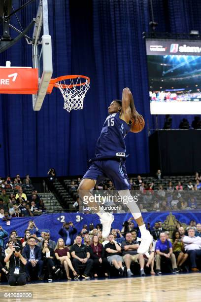 Troy Williams of the Iowa Energy dunks during the DLeague Slam Dunk Contest as part of the NBA DLeague AllStar Game presented by Kumho Tires as part...