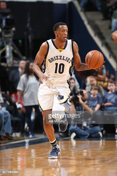 Troy Williams of the Memphis Grizzlies handles the ball against the Los Angeles Lakers on December 3 2016 at FedExForum in Memphis Tennessee NOTE TO...