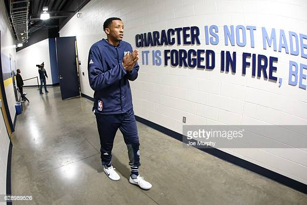 Troy Williams of the Memphis Grizzlies is seen before the game against the Golden State Warriors on December 10 2016 at FedExForum in Memphis...