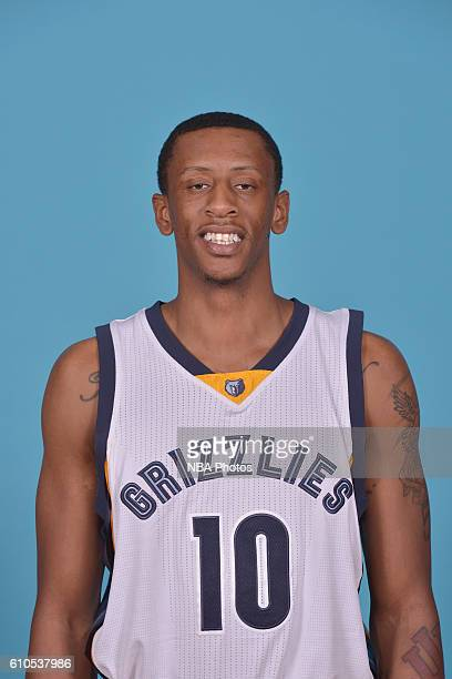 Troy Williams of the Memphis Grizzlies poses for a head shot during the 20162017 Memphis Grizzlies Media Day on September 26 2016 at FedExForum in...