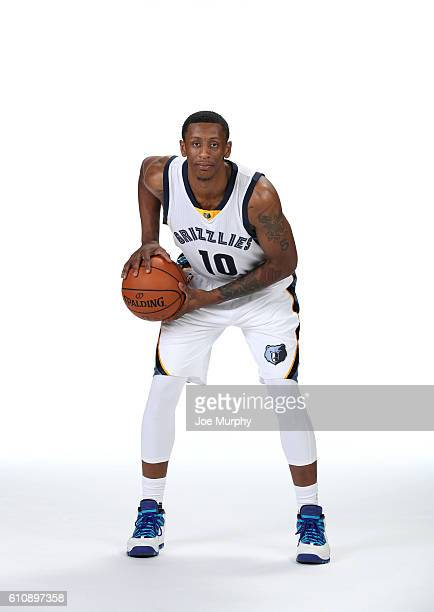 Troy Williams of the Memphis Grizzlies poses for a portrait during Memphis Grizzlies Media Day on September 26 2015 at FedExForum in Memphis...