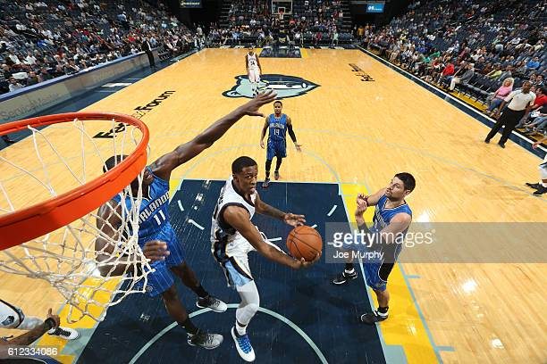 Troy Williams of the Memphis Grizzlies shoots the ball against the Orlando Magic during a preseason game on October 3 2016 at FedExForum in Memphis...