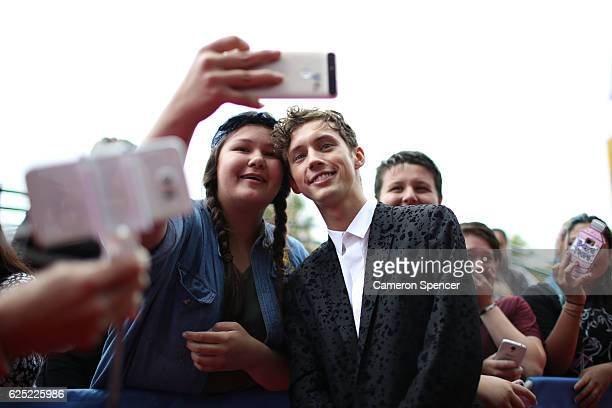Troye Sivan arrives for the 30th Annual ARIA Awards 2016 at The Star on November 23 2016 in Sydney Australia