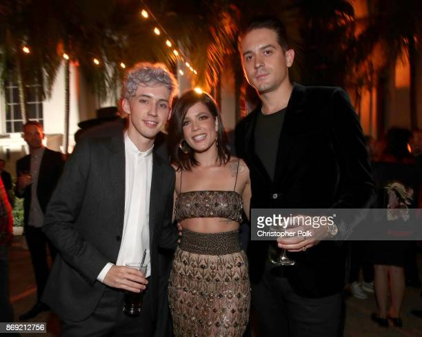 Troye Sivan Halsey and GEazy attend Spotify's Inaugural Secret Genius Awards hosted by Lizzo at Vibiana on November 1 2017 in Los Angeles California