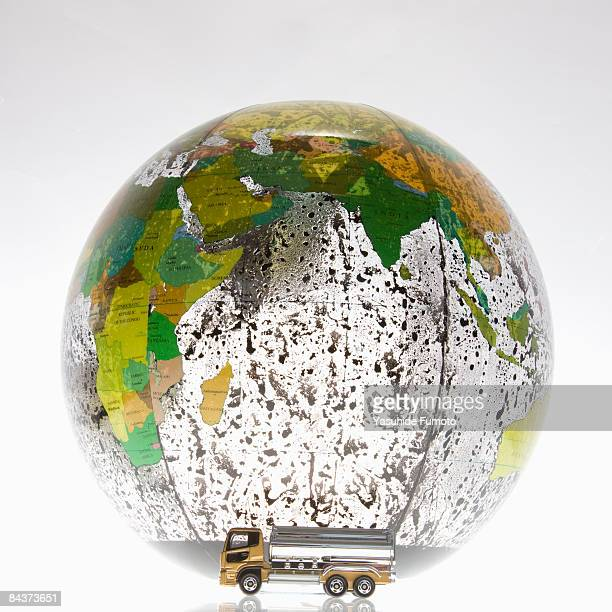 A truck and a globe.