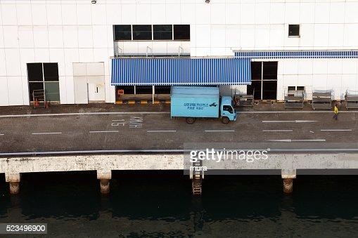 Truck at cargo terminal