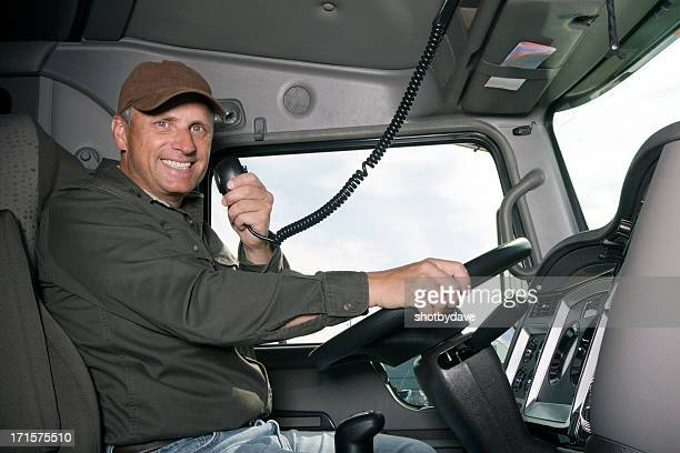 Truck Driver and CB Radio