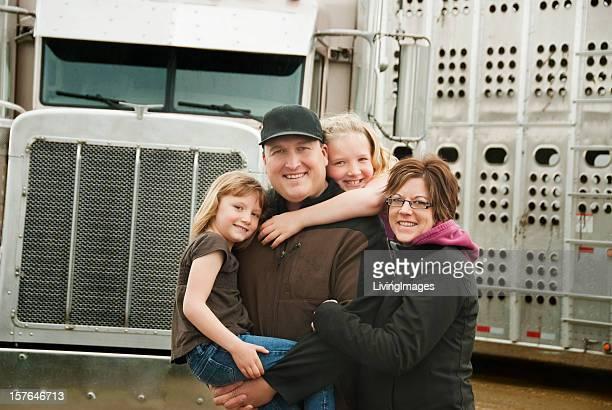 Camionista e la sua famiglia