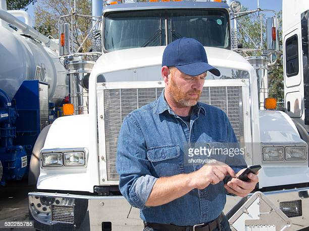 Truck Driver and Mobile Phone