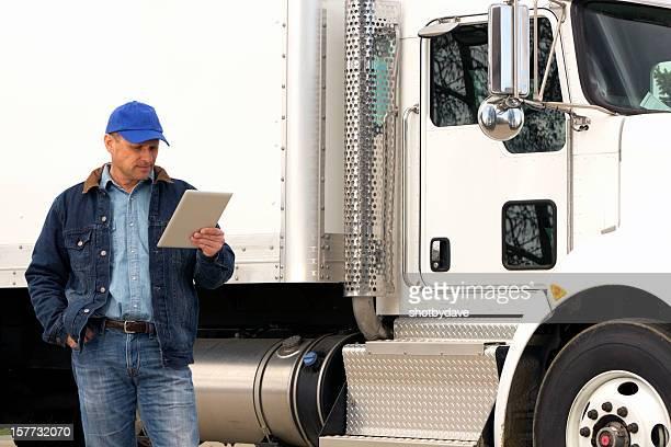 Lastwagenfahrer und PC