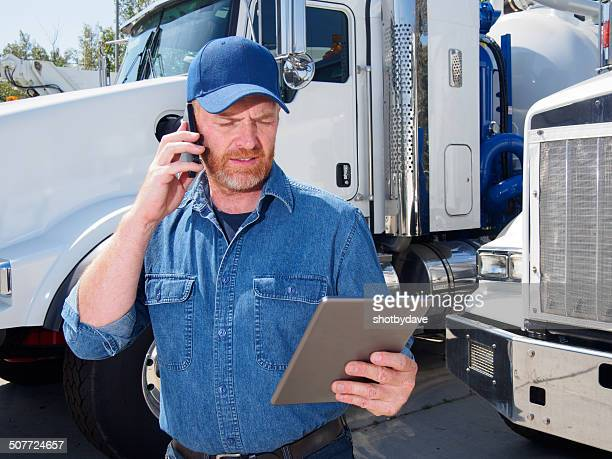Truck Driver and Tablet