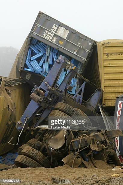 A truck driver was killed when his truck slammed into a freight train just after 700am near the town of Lismore in southwest Victoria 25 May 2006 WBS...