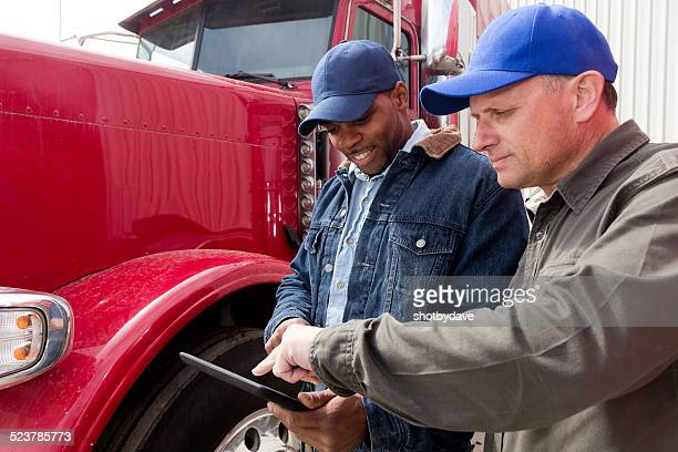 Truck Drivers and Tablet Computer