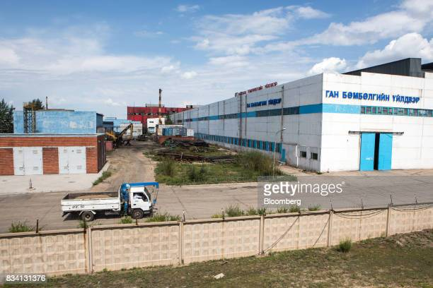 A truck drives through the Darkhan Metallurgical Plant in Darkhan Mongolia on Monday Aug 14 2017 Mongolia desperate to make more of its abundant...