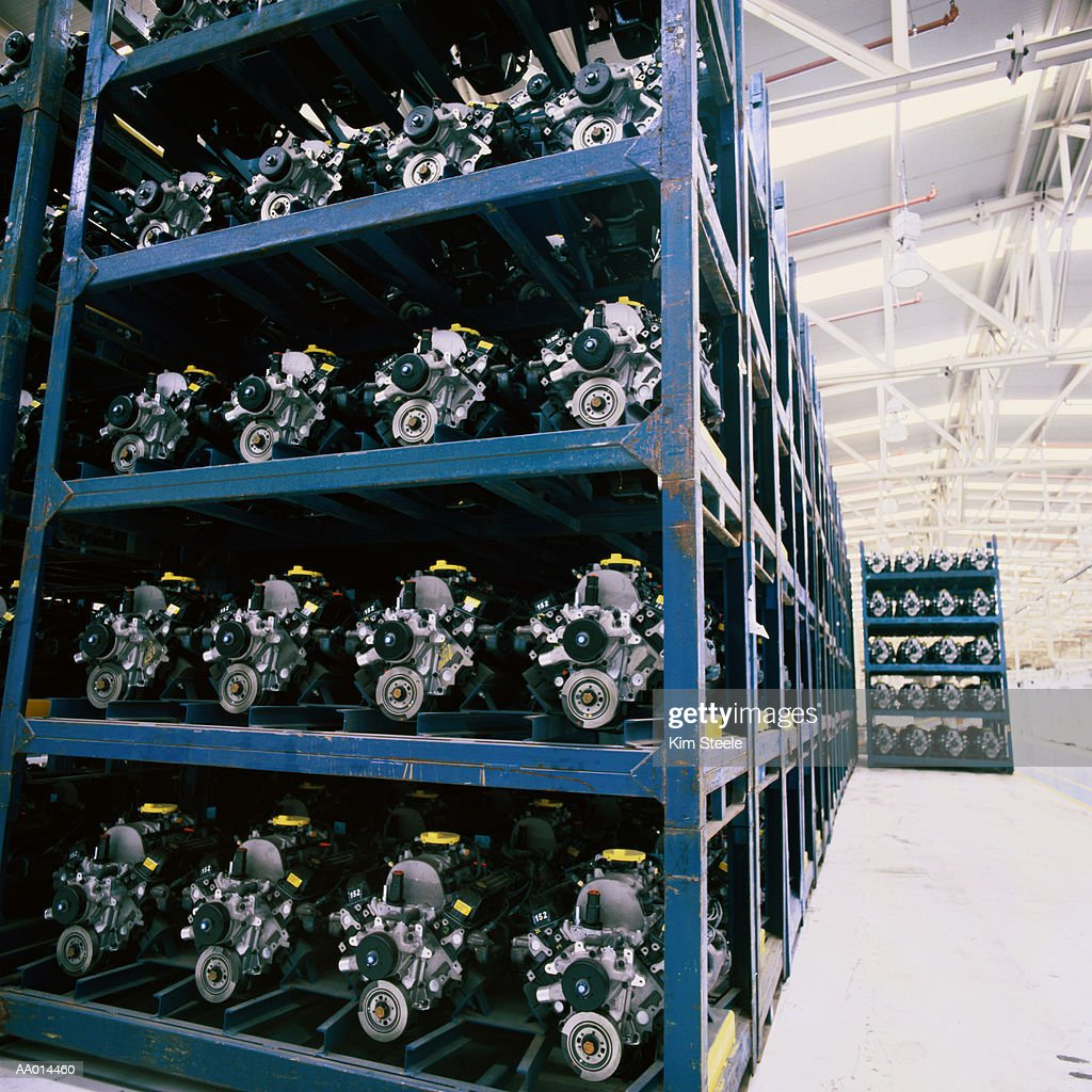 Truck Engines at a Manufacturing Plant