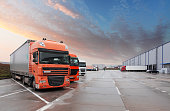 Truck in warehouse - Cargo Transport