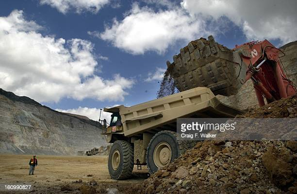 A truck is loaded with a 150 ton payload of ore in the Carachuga mine part of Minera Yanacocha Minera Yanacocha is the largest gold producer in Latin...
