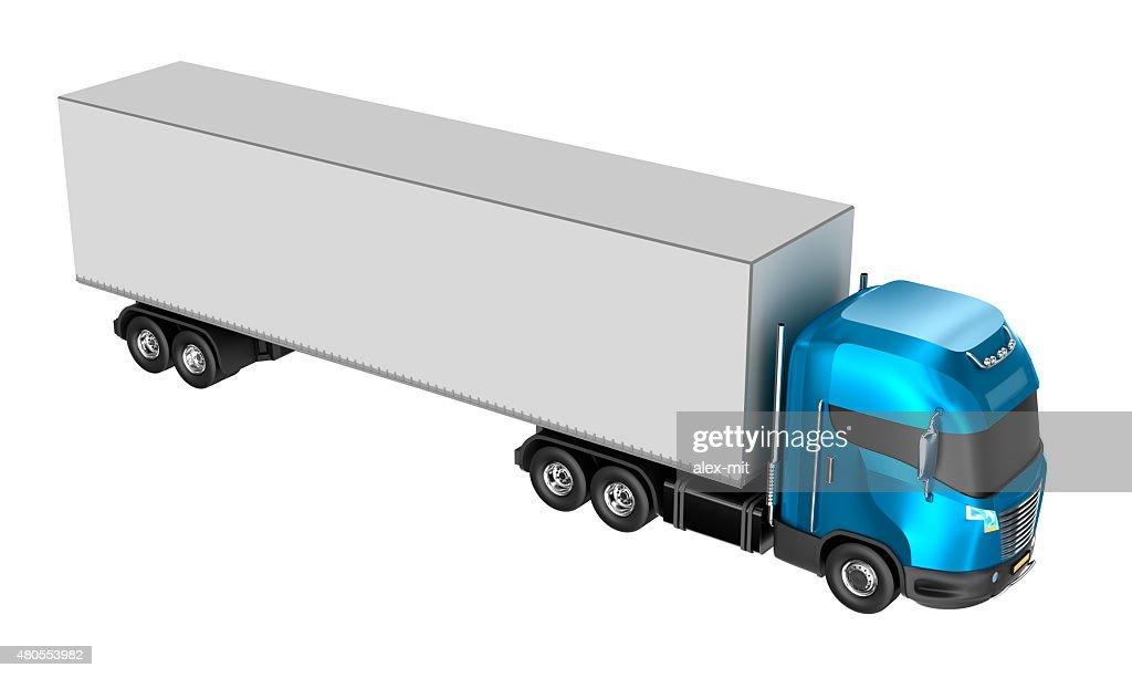 Camião isolado sobre o branco. O meu design. : Foto de stock