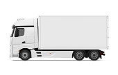 Truck isolated on white background. 3D render
